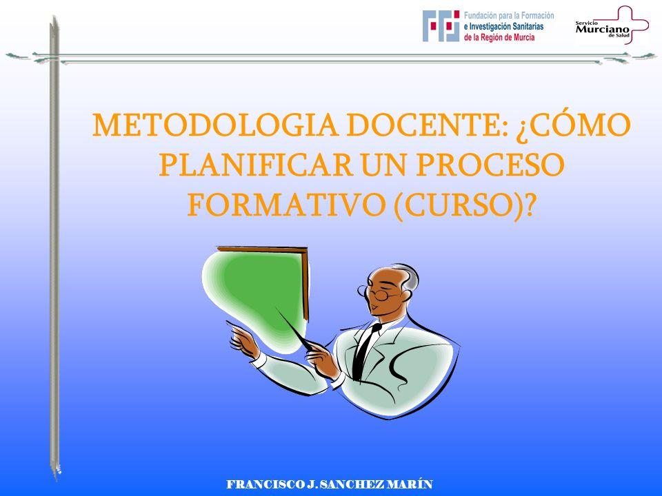 METODOLOGIA DOCENTE: ¿CÓMO PLANIFICAR UN PROCESO FORMATIVO (CURSO)