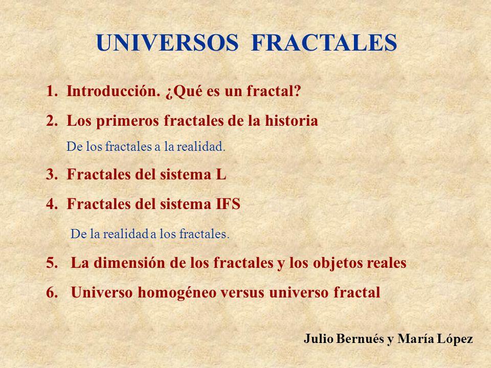 UNIVERSOS FRACTALES 1. Introducción. ¿Qué es un fractal
