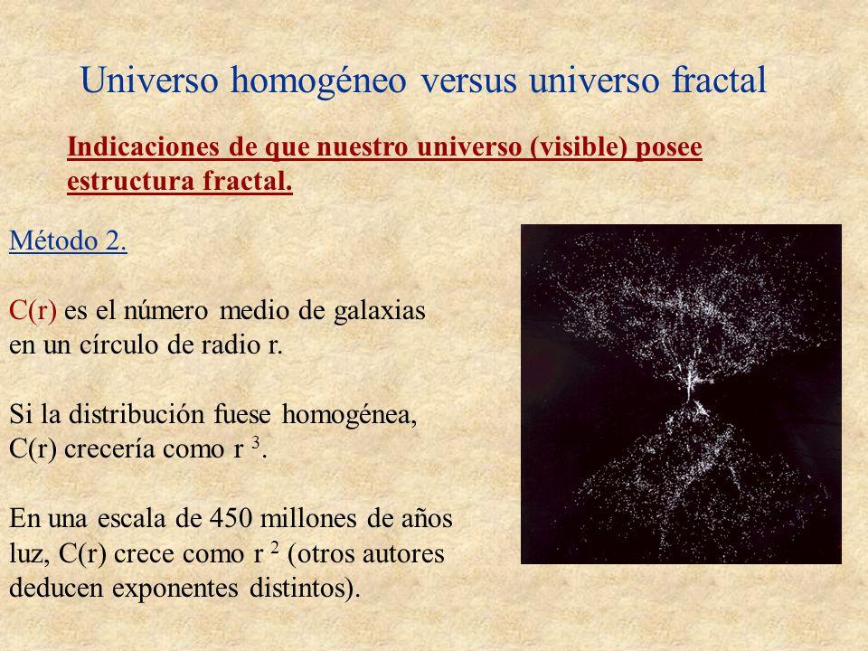 Universo homogéneo versus universo fractal
