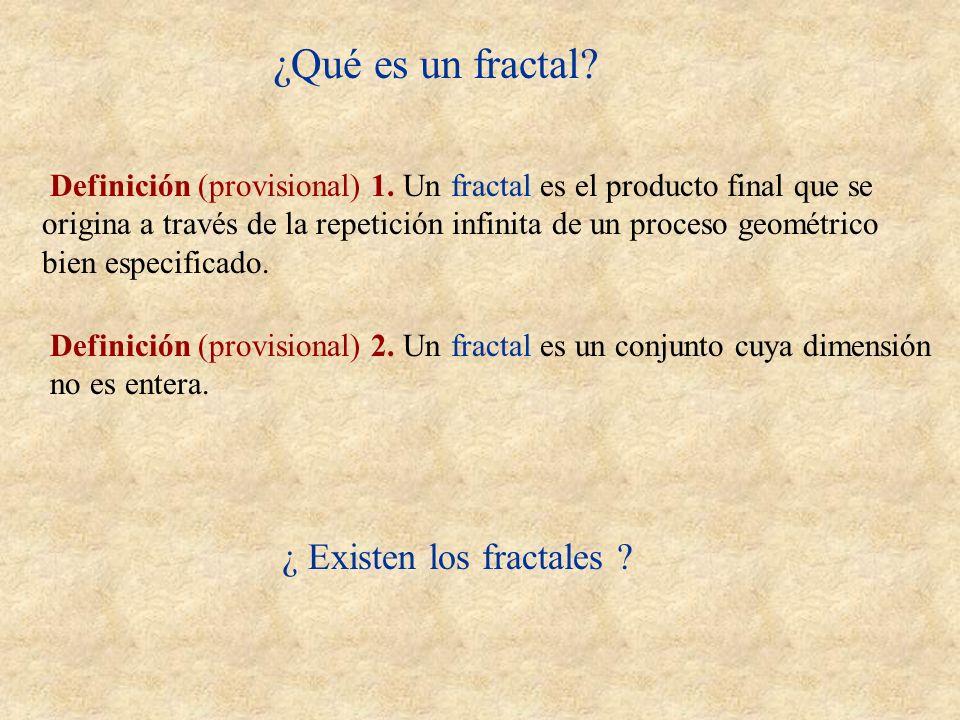 ¿Qué es un fractal ¿ Existen los fractales