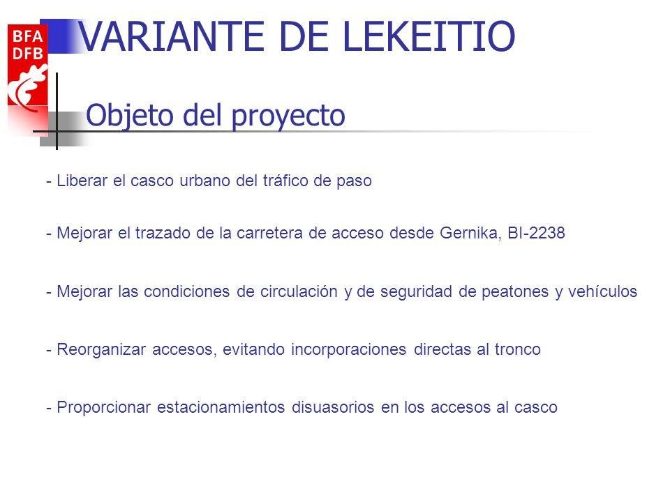 VARIANTE DE LEKEITIO Objeto del proyecto