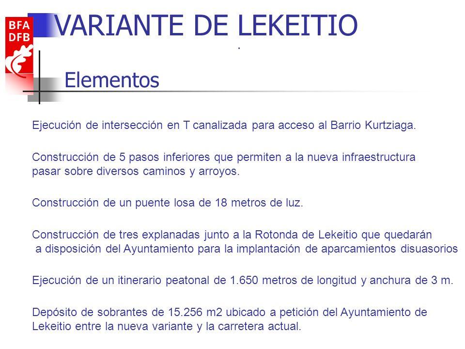 VARIANTE DE LEKEITIO Elementos .
