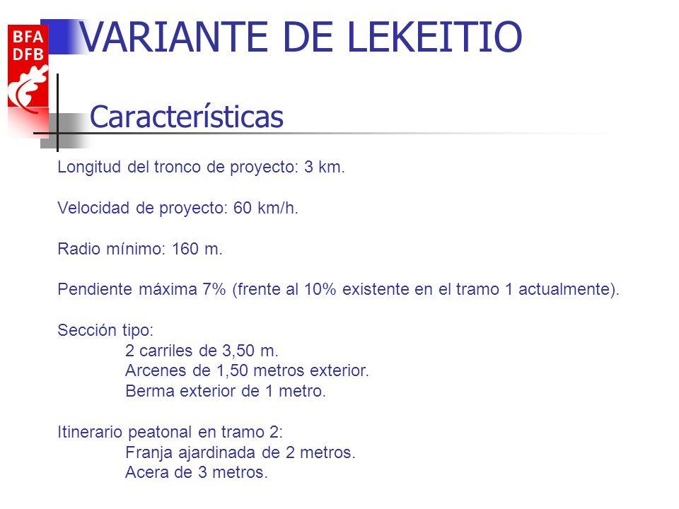 VARIANTE DE LEKEITIO Características