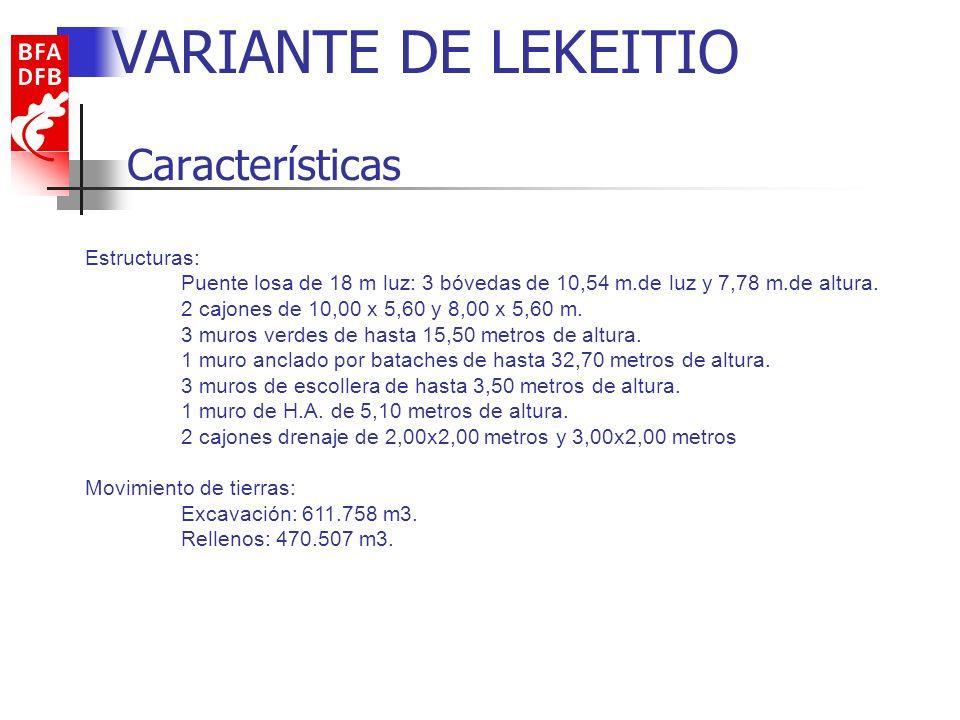 VARIANTE DE LEKEITIO Características Estructuras: