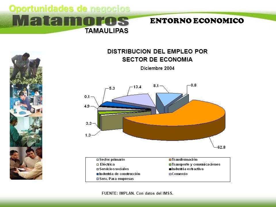 DISTRIBUCION DEL EMPLEO POR SECTOR DE ECONOMIA