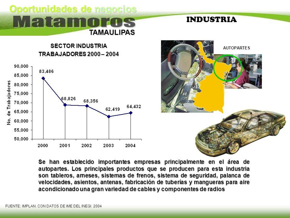 INDUSTRIA SECTOR INDUSTRIA TRABAJADORES 2000 – 2004