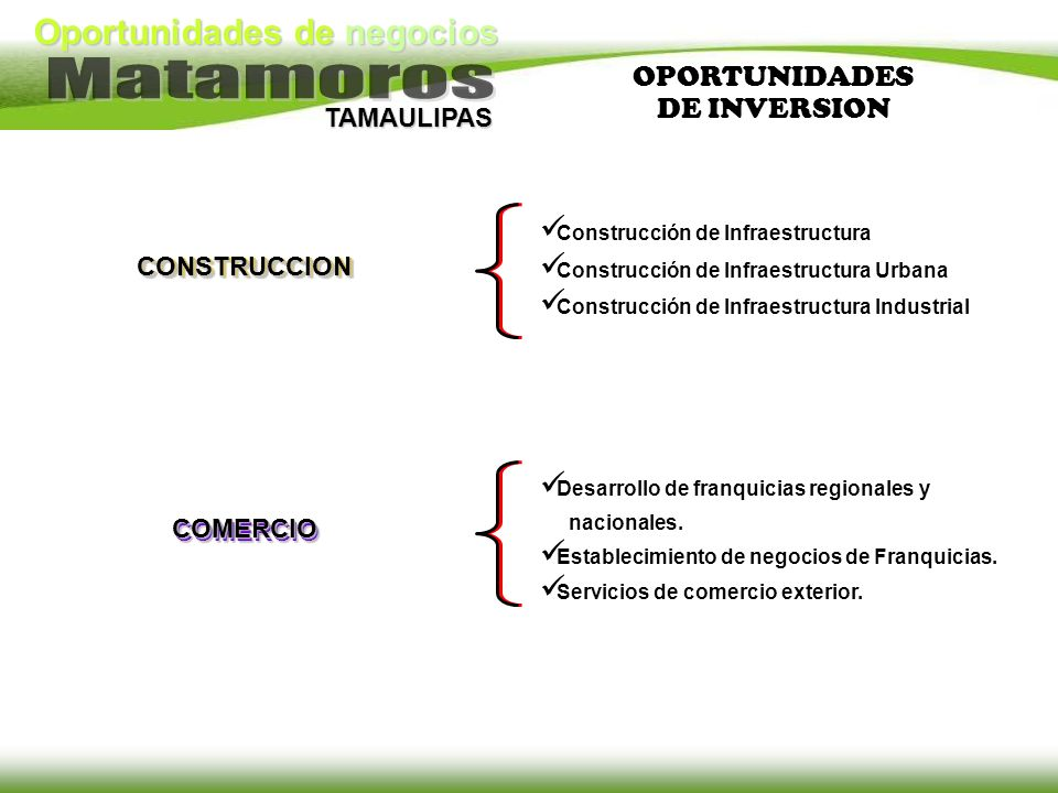 OPORTUNIDADES DE INVERSION