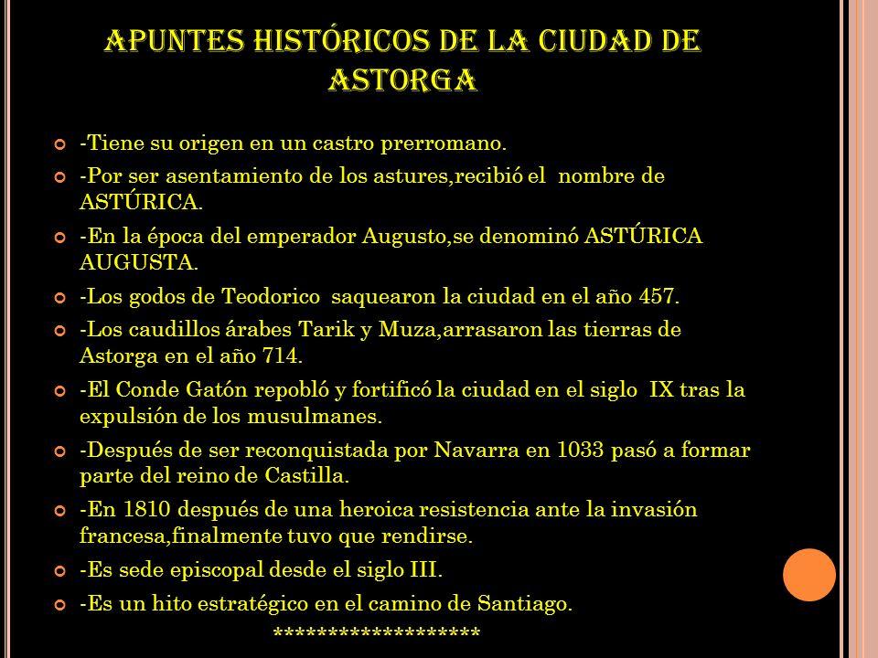 APUNTES HISTÓRICOS DE LA CIUDAD DE ASTORGA
