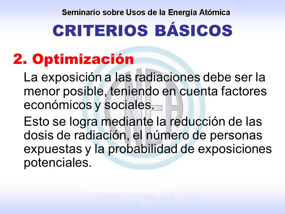 CRITERIOS BÁSICOS 2. Optimización