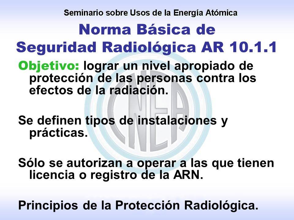 Norma Básica de Seguridad Radiológica AR 10.1.1