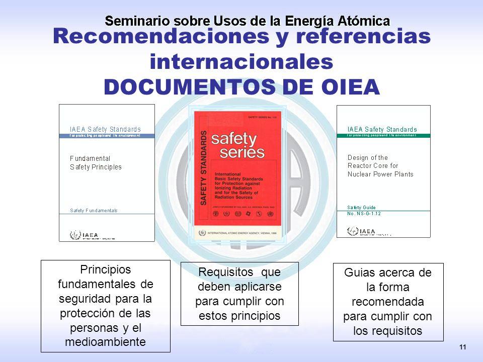 Recomendaciones y referencias internacionales DOCUMENTOS DE OIEA