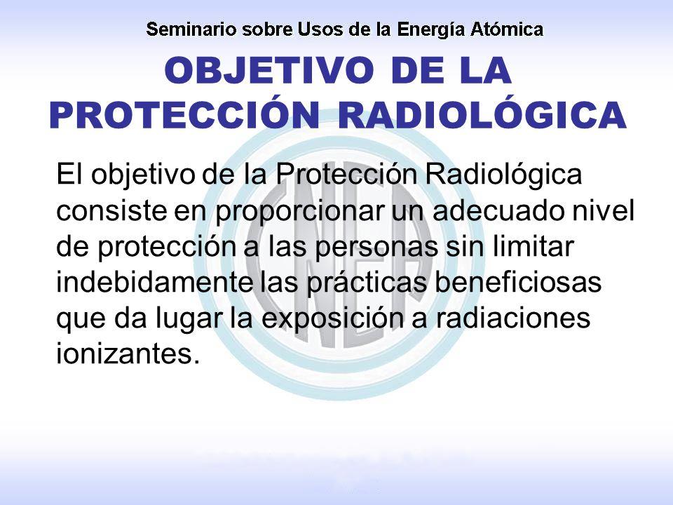 OBJETIVO DE LA PROTECCIÓN RADIOLÓGICA