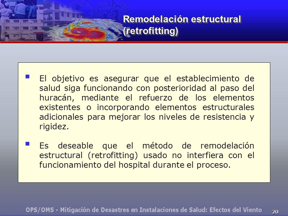 Remodelación estructural (retrofitting)