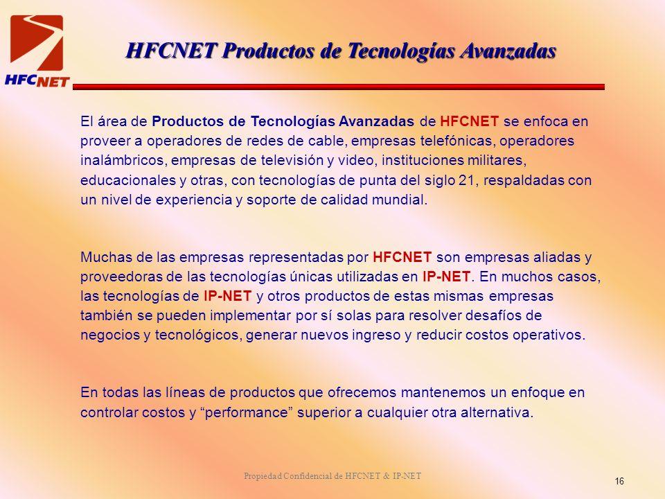 HFCNET Productos de Tecnologías Avanzadas