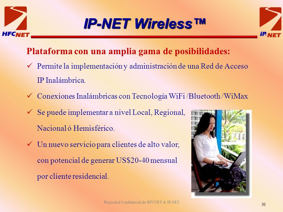 Propiedad Confidencial de HFCNET & IP-NET