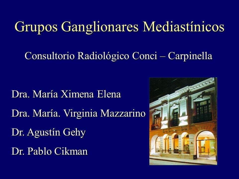 Grupos Ganglionares Mediastínicos