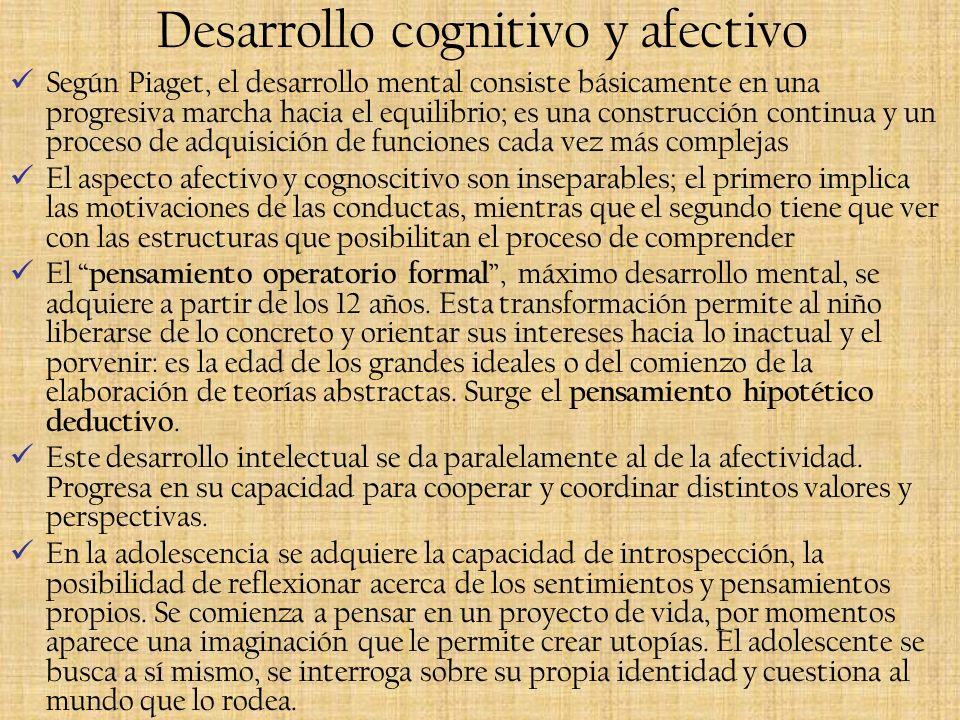 Desarrollo cognitivo y afectivo