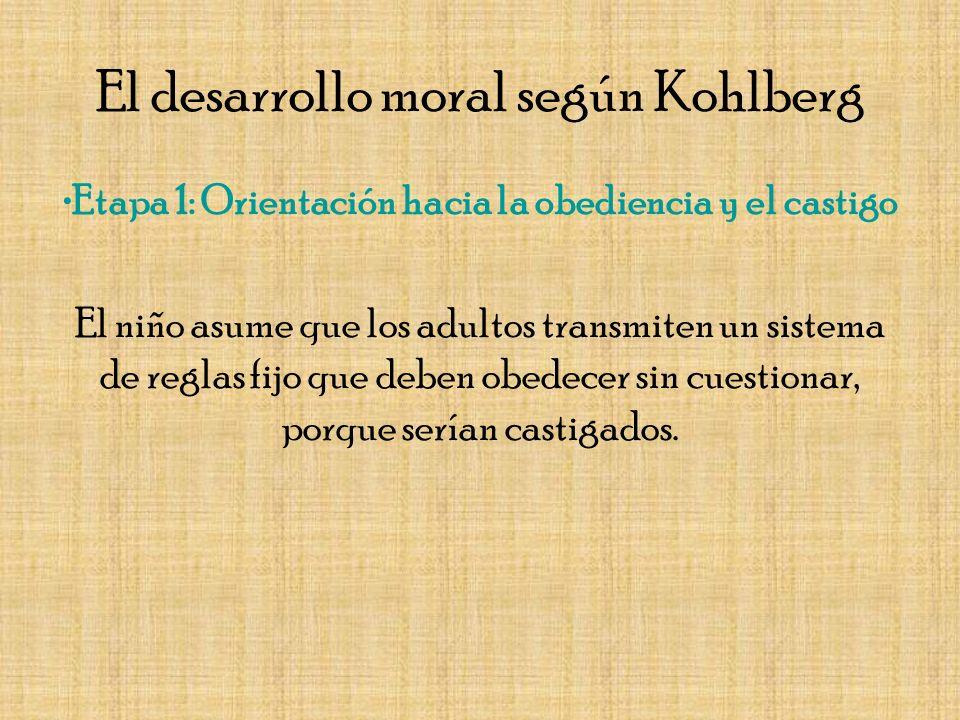 El desarrollo moral según Kohlberg