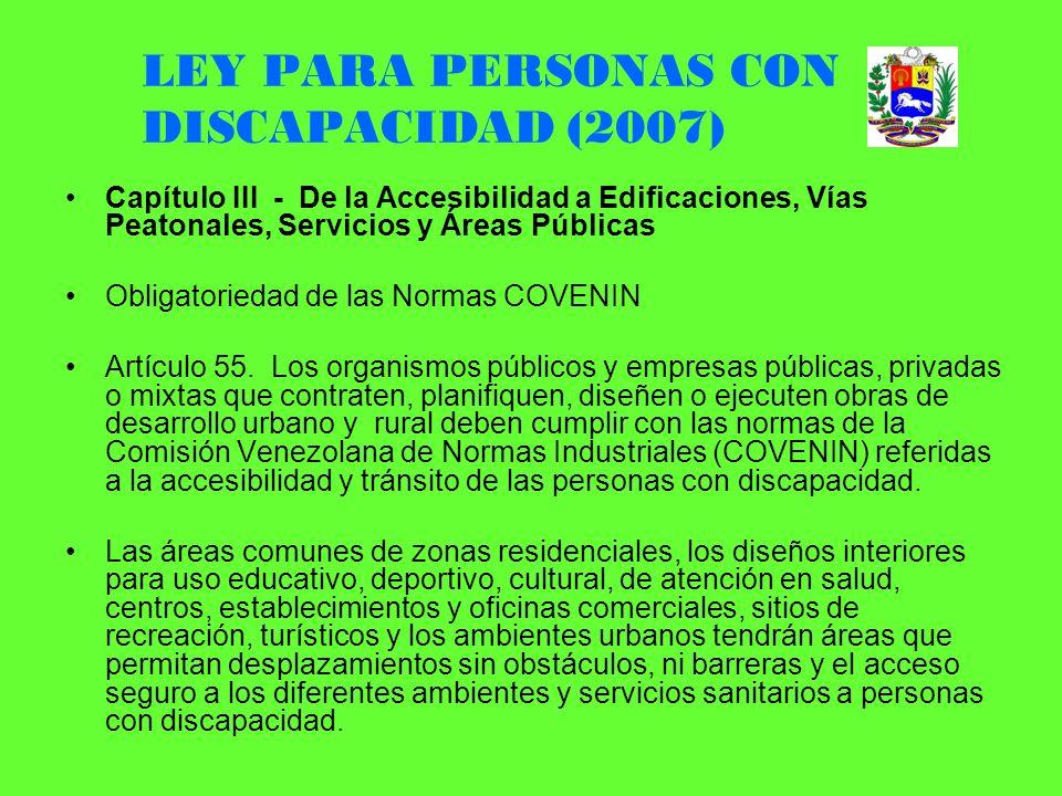 LEY PARA PERSONAS CON DISCAPACIDAD (2007)