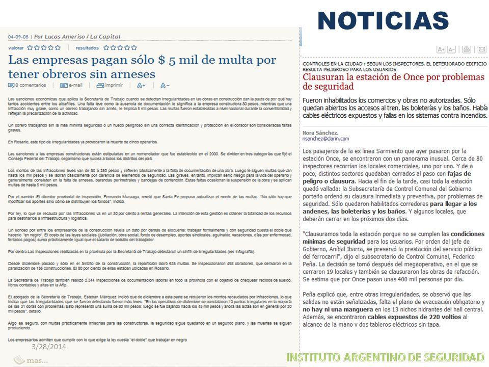 NOTICIAS 3/29/2017 INSTITUTO ARGENTINO DE SEGURIDAD