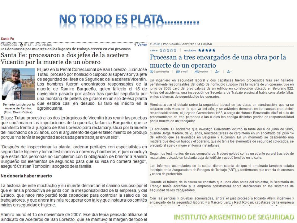 NO TODO ES PLATA……….. INSTITUTO ARGENTINO DE SEGURIDAD