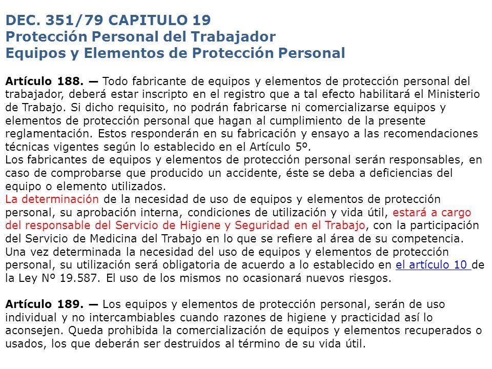 Protección Personal del Trabajador