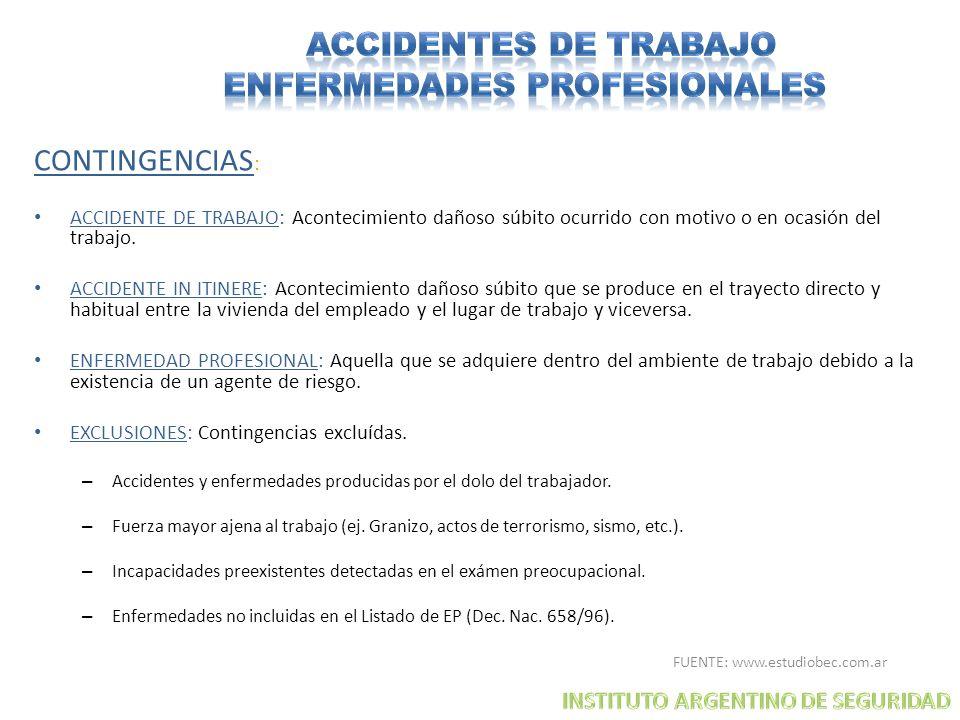ACCIDENTES DE TRABAJO ENFERMEDADES PROFESIONALES