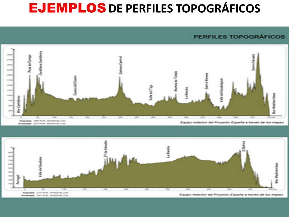 EJEMPLOS DE PERFILES TOPOGRÁFICOS
