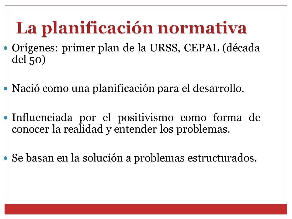 La planificación normativa