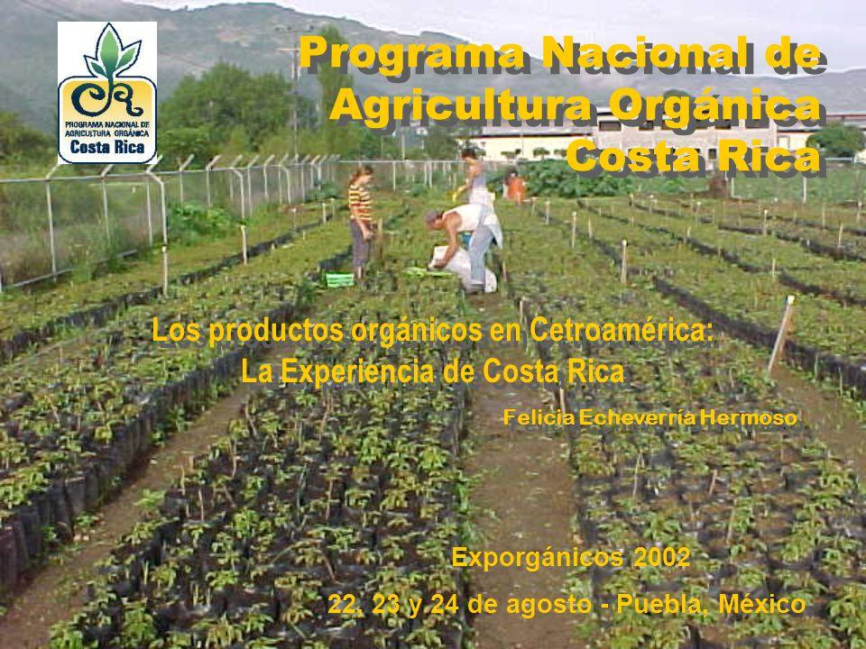 Programa Nacional de Agricultura Orgánica Costa Rica