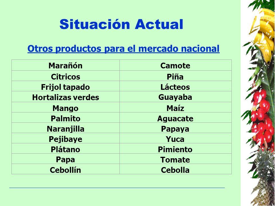 Otros productos para el mercado nacional