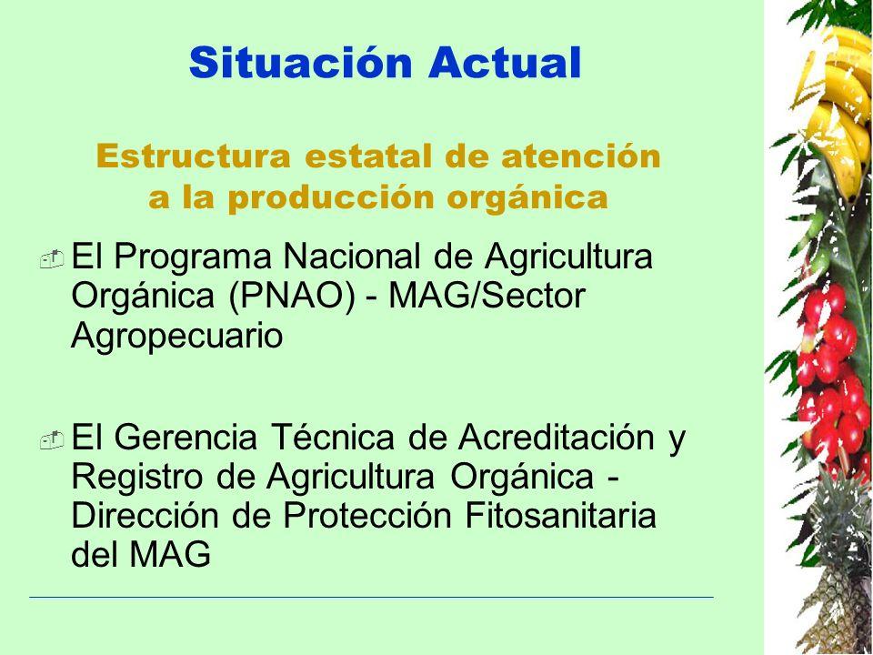 Estructura estatal de atención a la producción orgánica