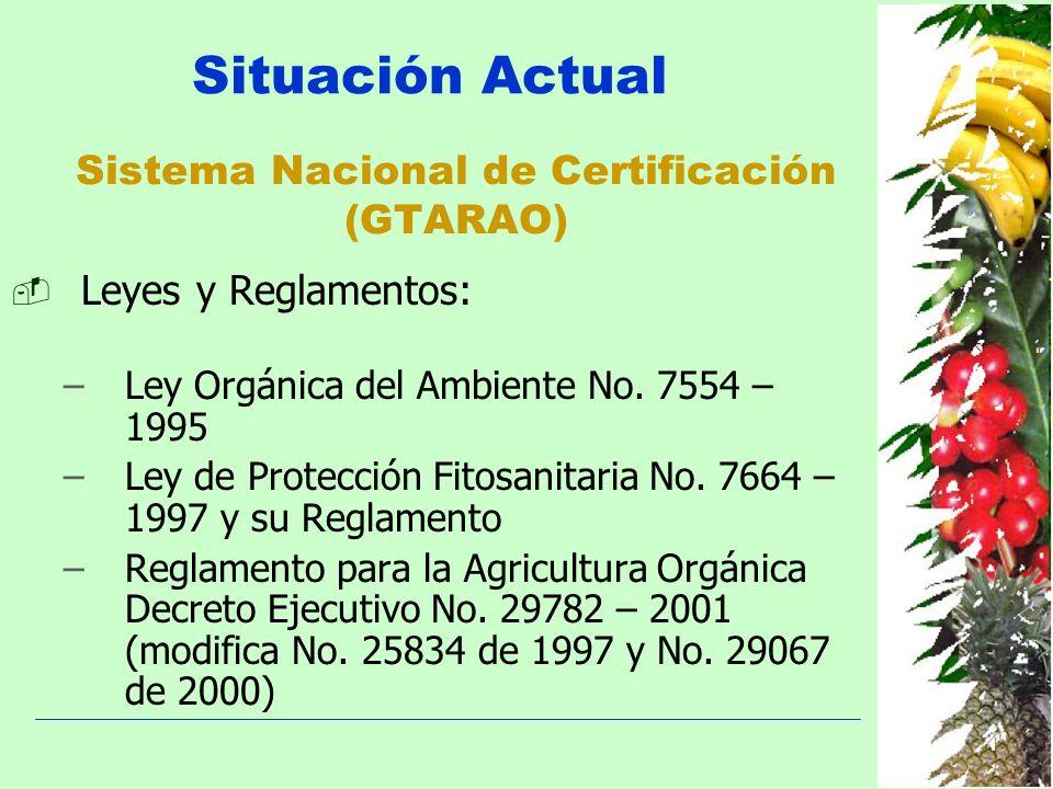 Sistema Nacional de Certificación (GTARAO)