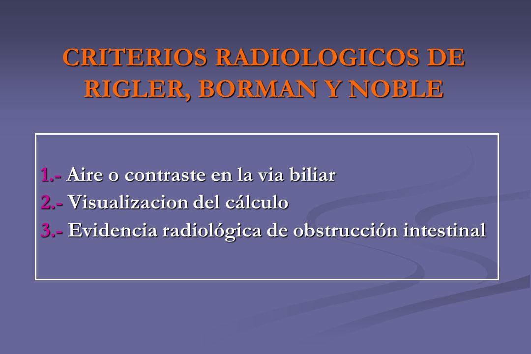 CRITERIOS RADIOLOGICOS DE RIGLER, BORMAN Y NOBLE