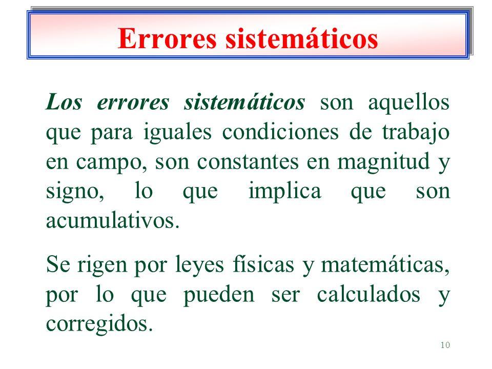 Errores sistemáticos