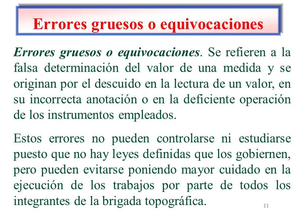 Errores gruesos o equivocaciones