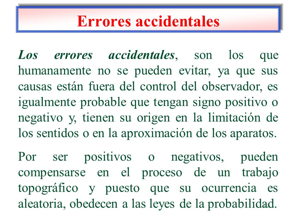 Errores accidentales