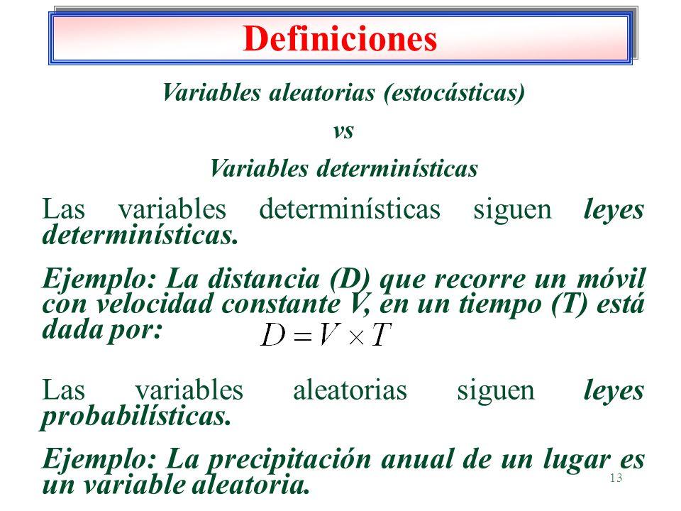 Variables aleatorias (estocásticas)