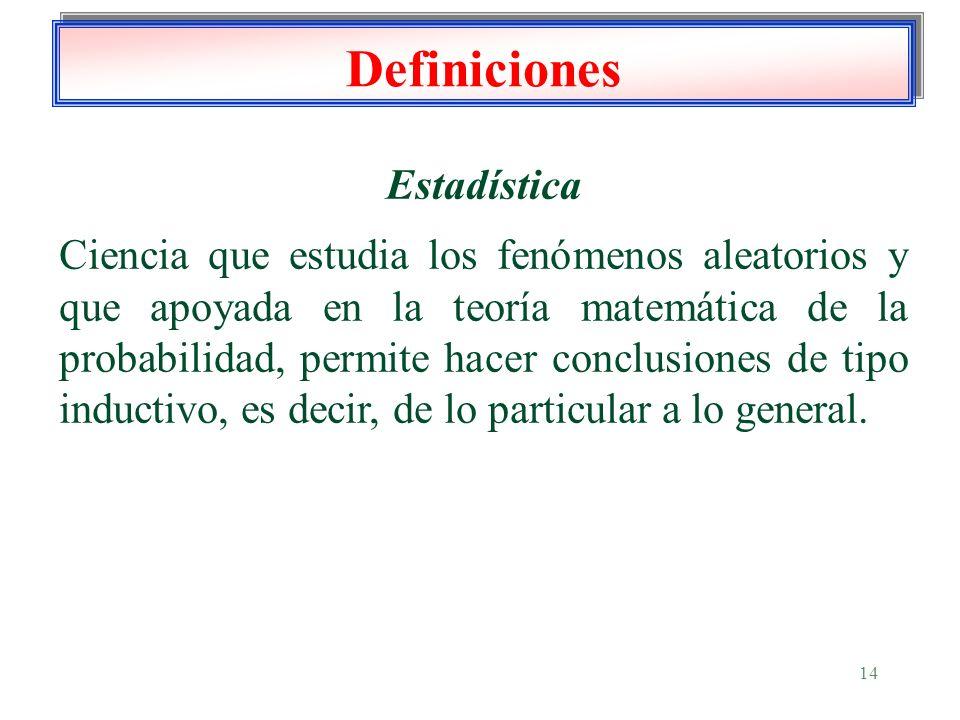 Definiciones Estadística