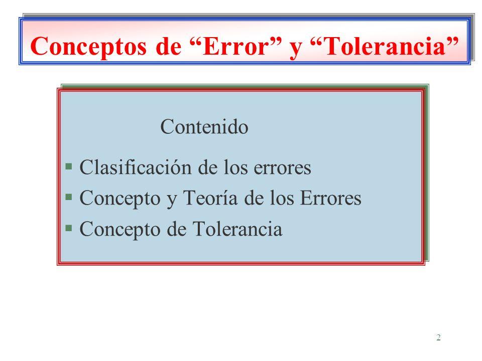Conceptos de Error y Tolerancia
