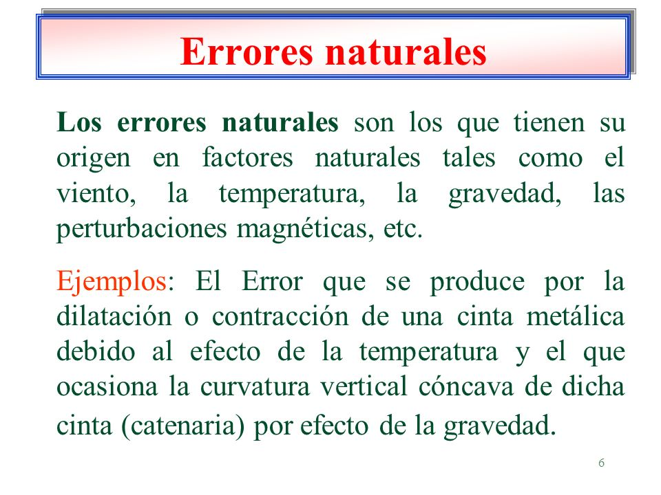 Errores naturales