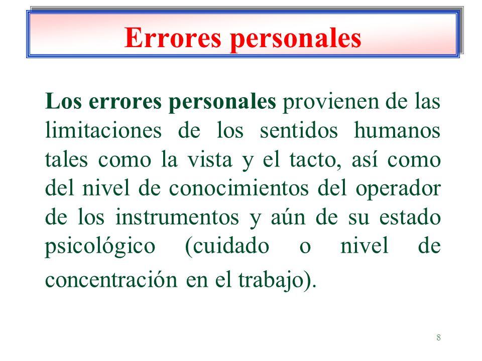 Errores personales