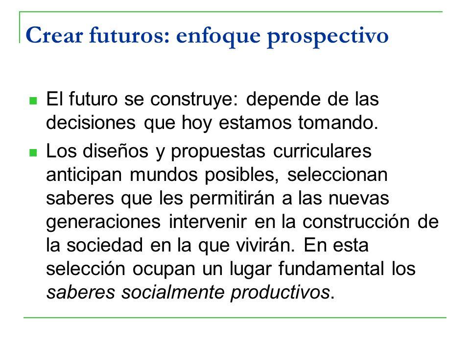 Crear futuros: enfoque prospectivo