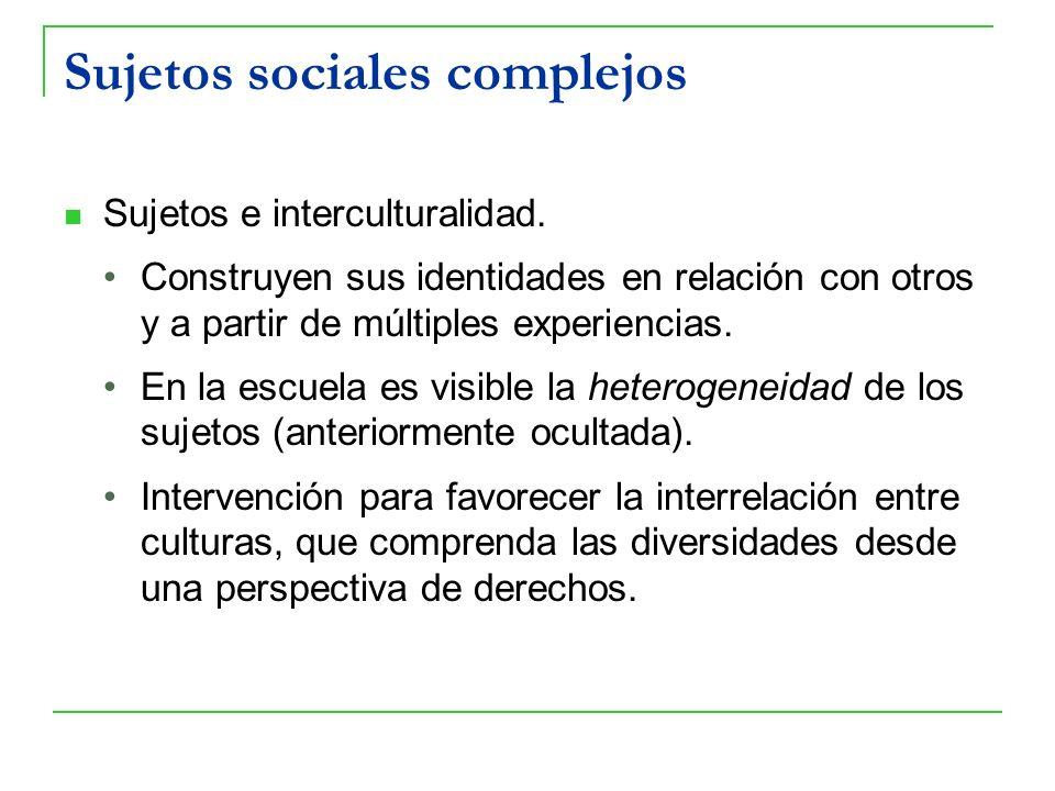 Sujetos sociales complejos