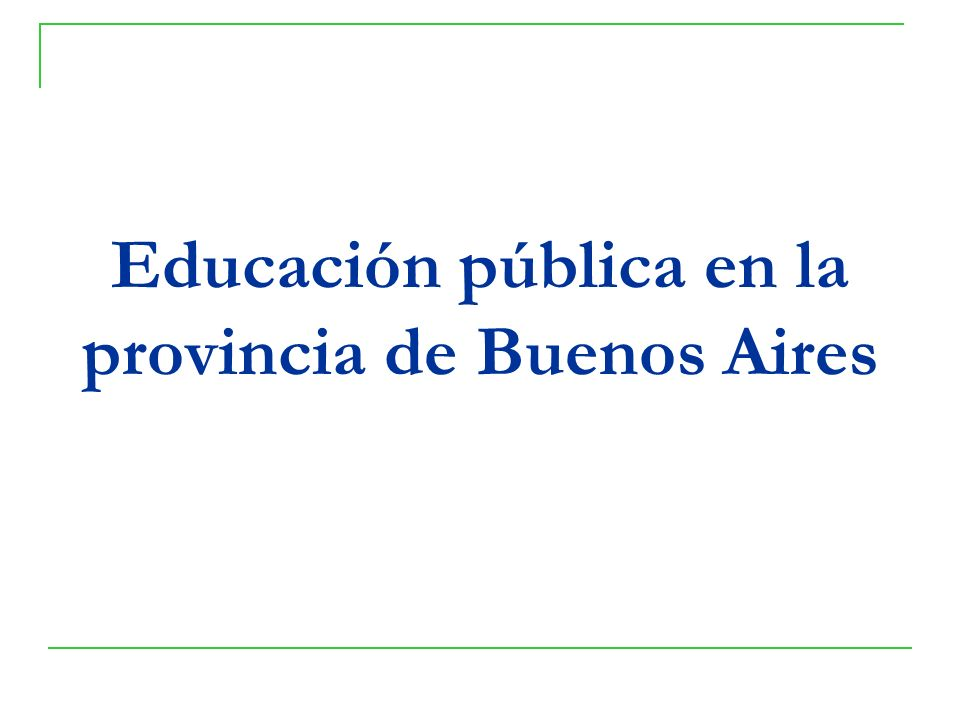 Educación pública en la provincia de Buenos Aires
