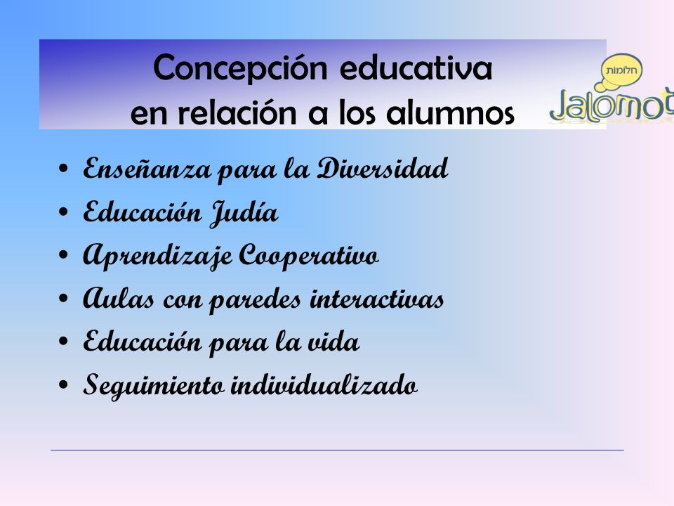 Concepción educativa en relación a los alumnos