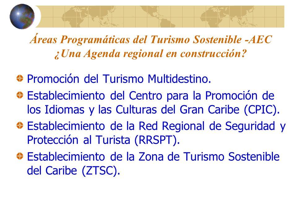 Áreas Programáticas del Turismo Sostenible -AEC ¿Una Agenda regional en construcción