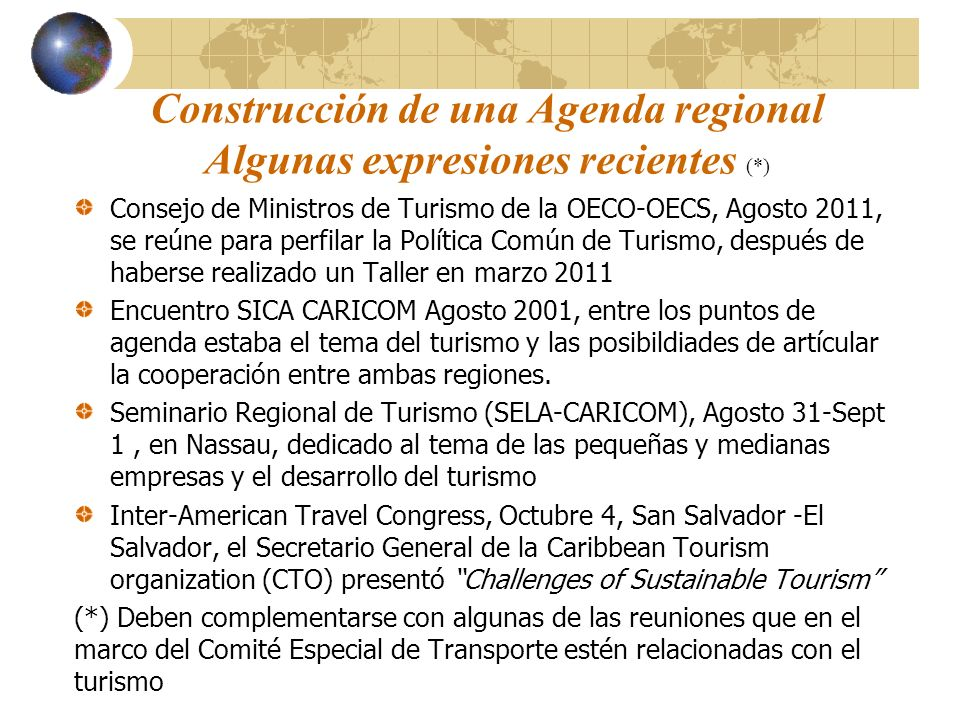 Construcción de una Agenda regional Algunas expresiones recientes (*)