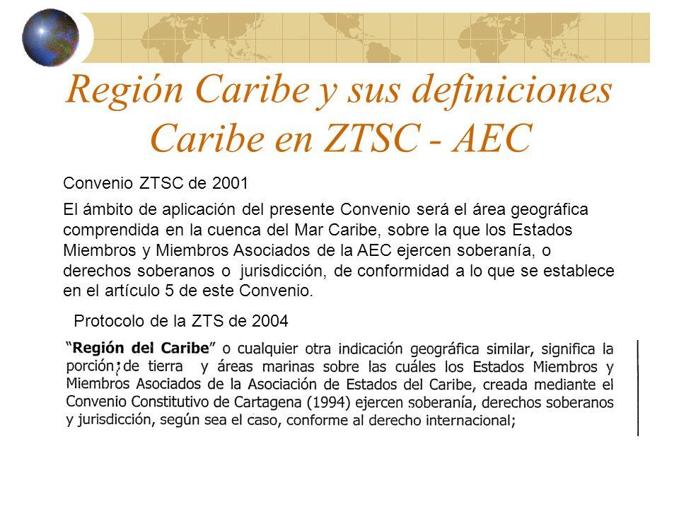 Región Caribe y sus definiciones Caribe en ZTSC - AEC