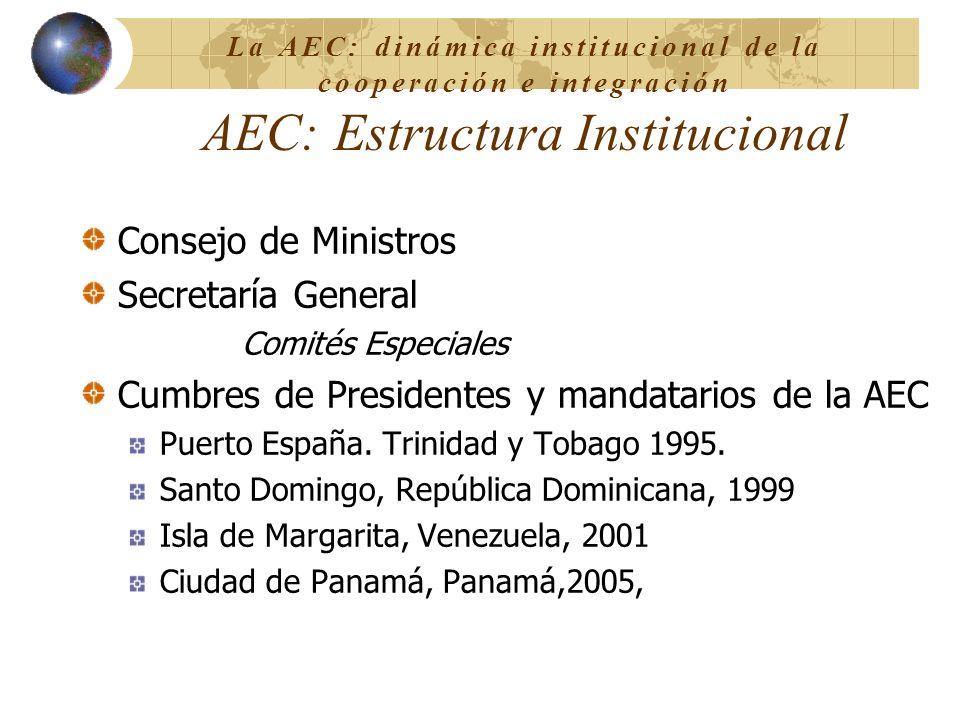 Cumbres de Presidentes y mandatarios de la AEC